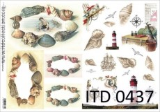 Papier do Decoupage firmy ITD 60g nr 437