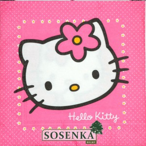 Serwetka do DECOUPAGE HELLO KITTY